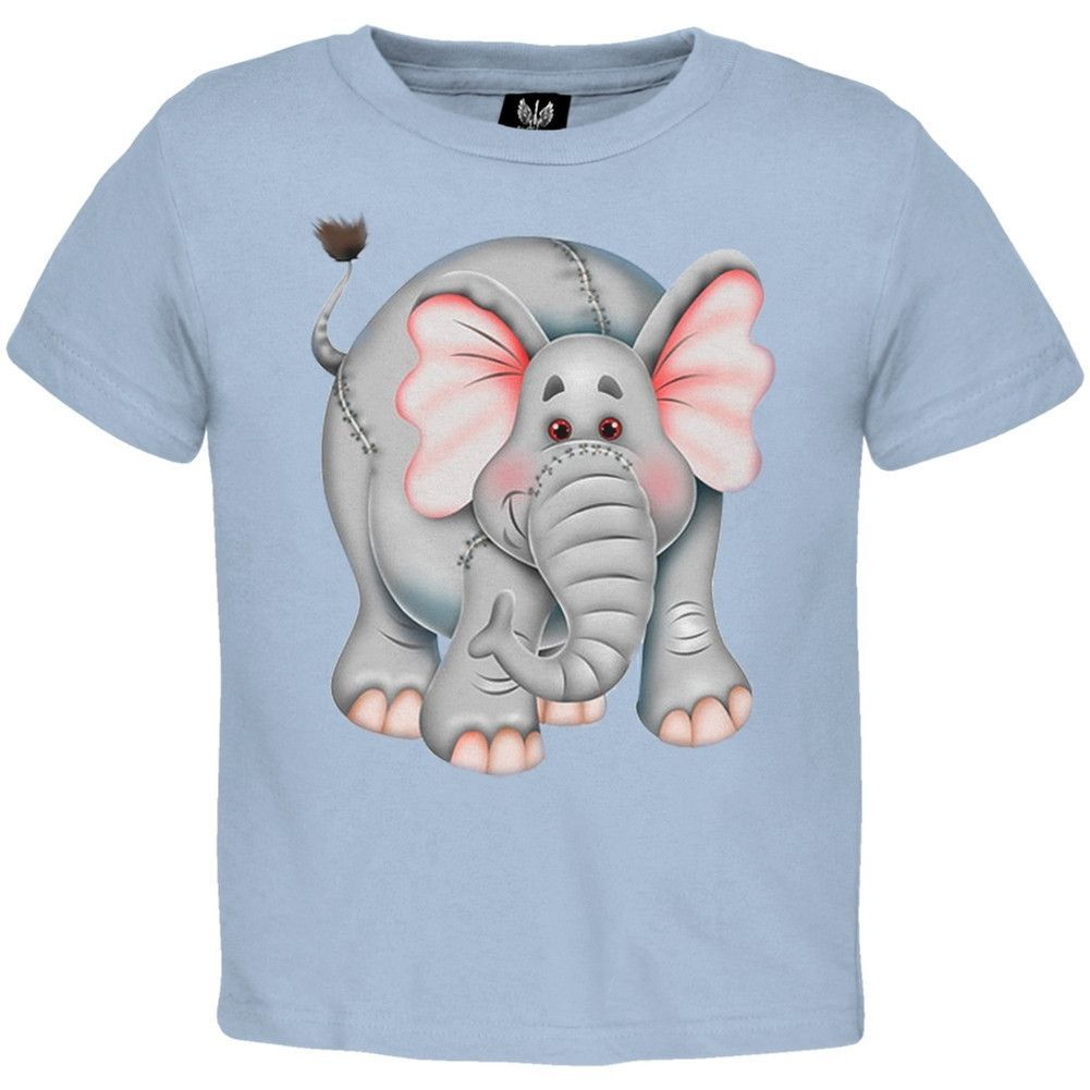 Pink And Gray Elephant Youth T-Shirt