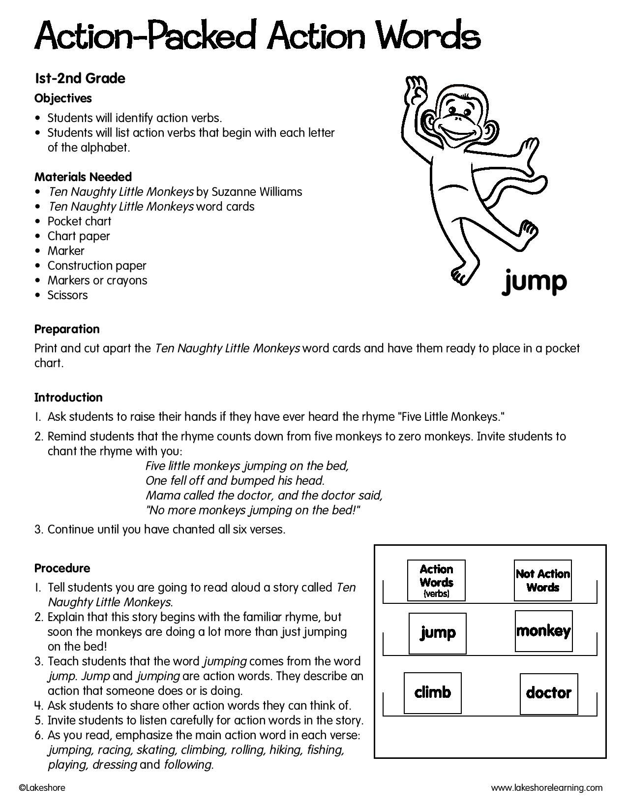 Action Packed Action Words Lessonplan Vocabulary Lesson Plans Action Words Vocabulary Lessons [ 1650 x 1275 Pixel ]