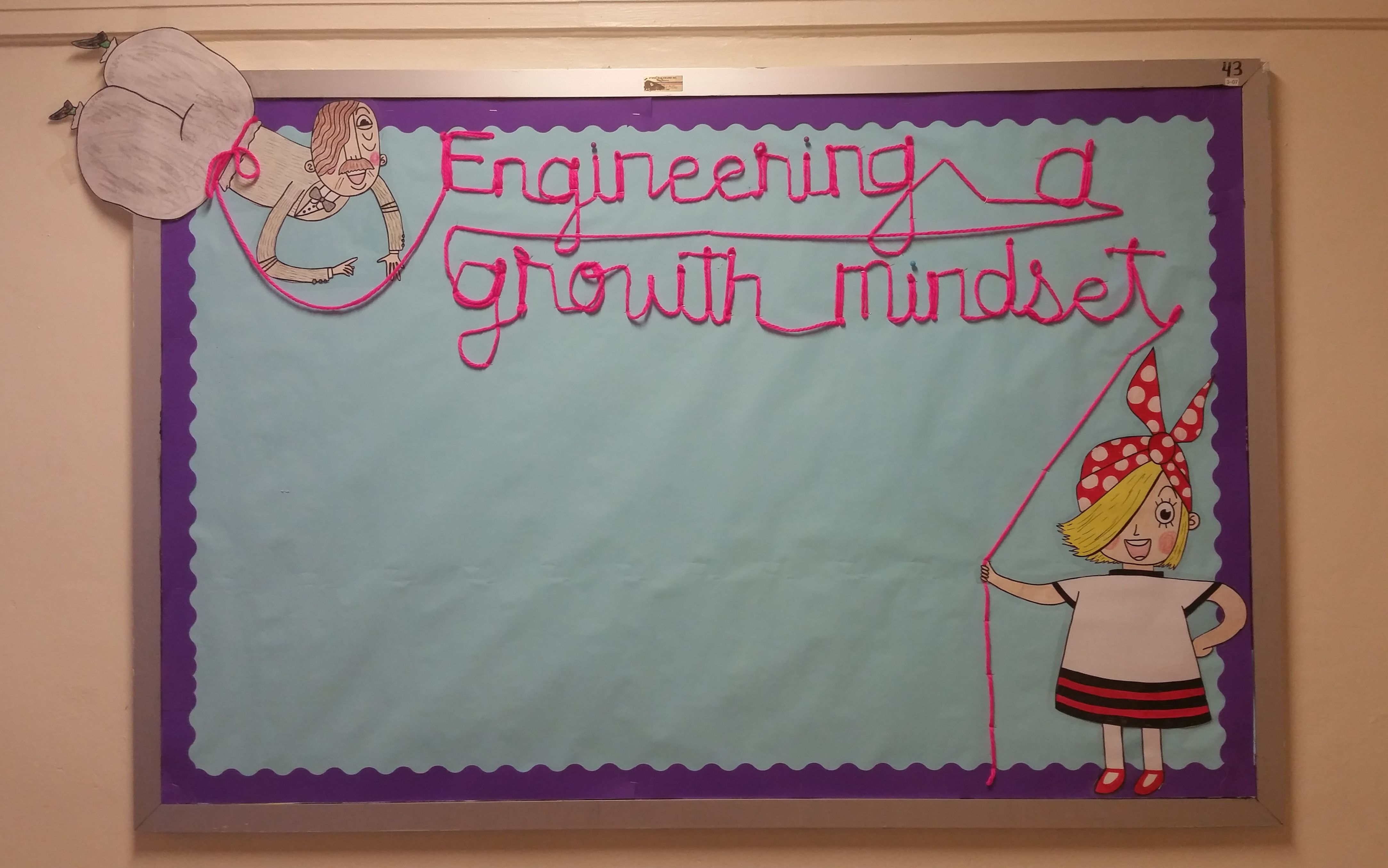 Rosie Revere Engineer bulletin board decor; promoting a growth ...
