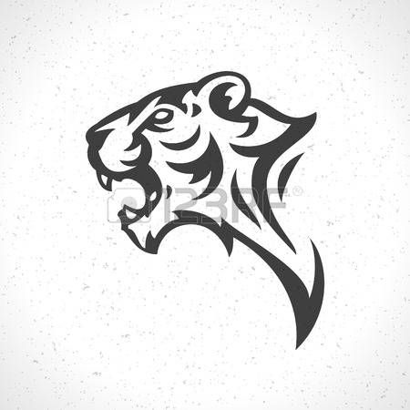 Abstract Tiger Tiger Face Icon Emblem Template Mascot Symbol For