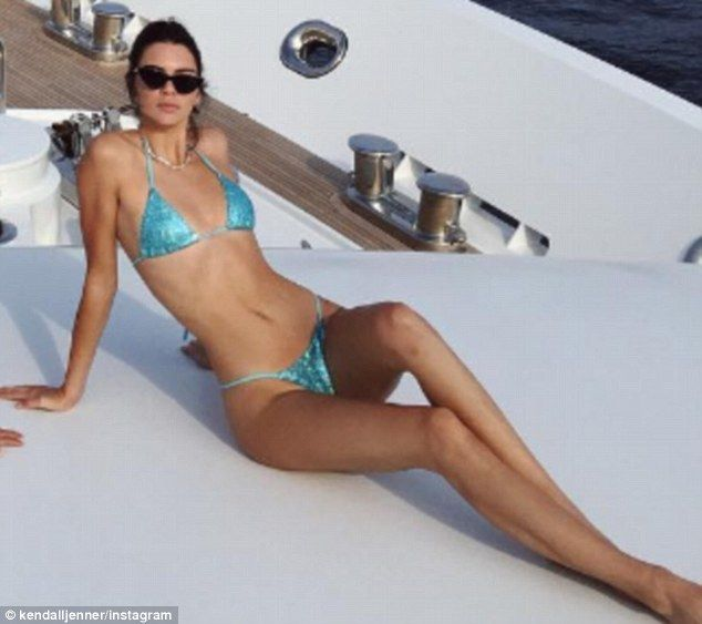 f6ac6ca4cb8 Kendall Jenner shows off her physique in thong bikini on Cannes yacht  #dailymail