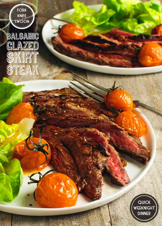 Balsamic Glazed Skirt Steak Recipe Noms Steak Skirt