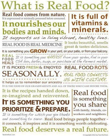 Great Infographic ~ What is Real Food?