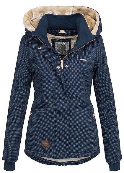 Aiki Damen Winter Jacke Kapuze Teddyfell 2 Taschen