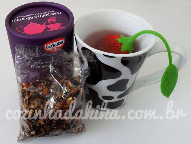 Chá de Morango e Framboesa com infusor da Dr. Oetker