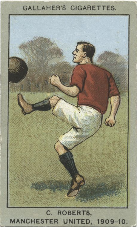 C. Roberts, Manchester United, 1909-10. From New York Public Library Digital Collections.