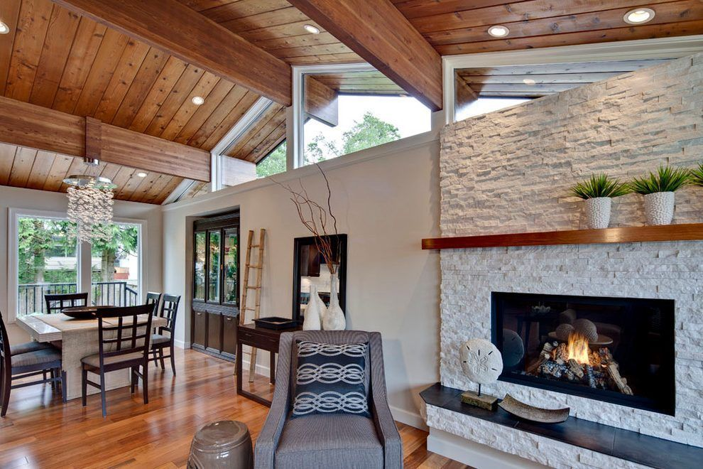 Image Result For Houzz Fireplace Mantels Photos Stacked Stone
