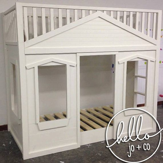 Best Basic Twin Solid Wood Cottage Loft Bed Kids In 2019 400 x 300