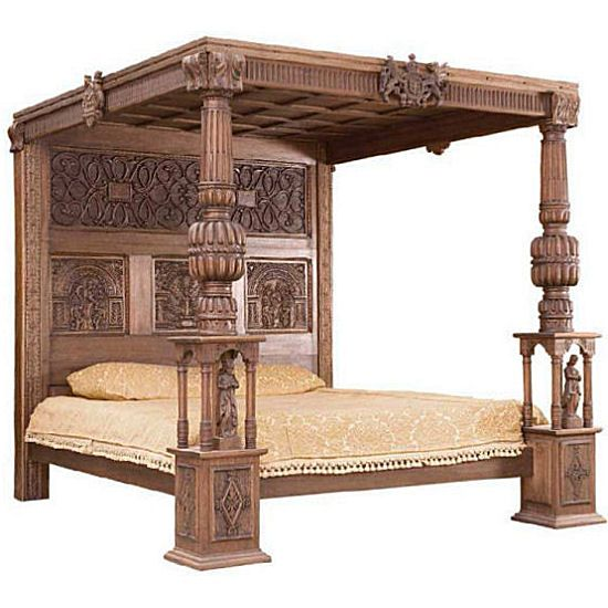 Ornate Wooden Carved Bed Indonesian Teak Furniture Products For The Bedroom Include Platform Bed Traditional Bed Designs Furniture Colonial Furniture Plans