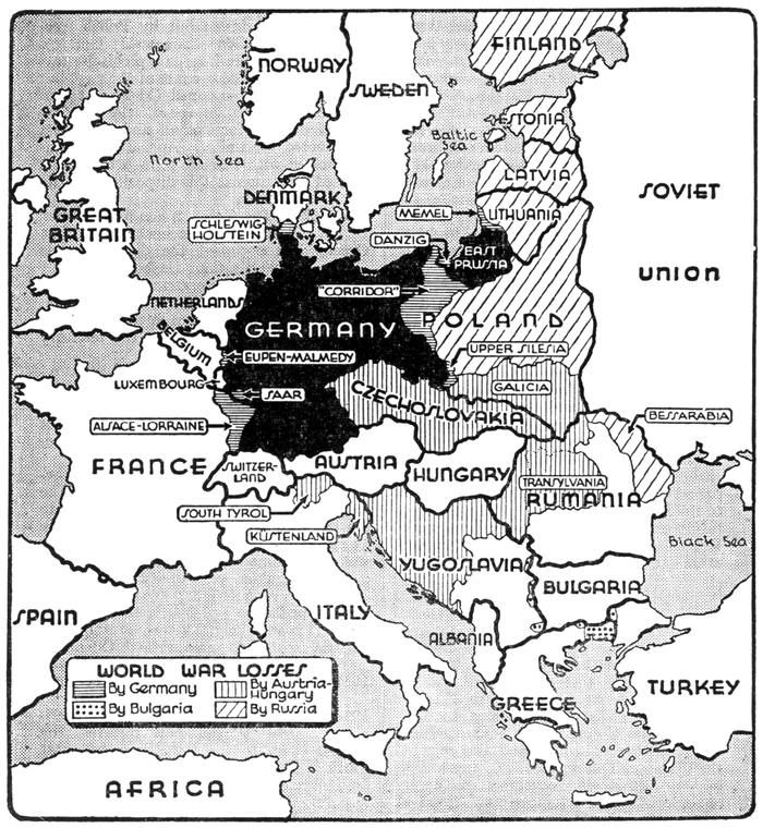 The key point to remember is that germany would guarantee her map of world war one losses by germany bulgaria austria hungary russia gumiabroncs Choice Image