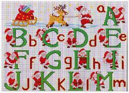 Risultati immagini per alfabeto punto croce natalizio