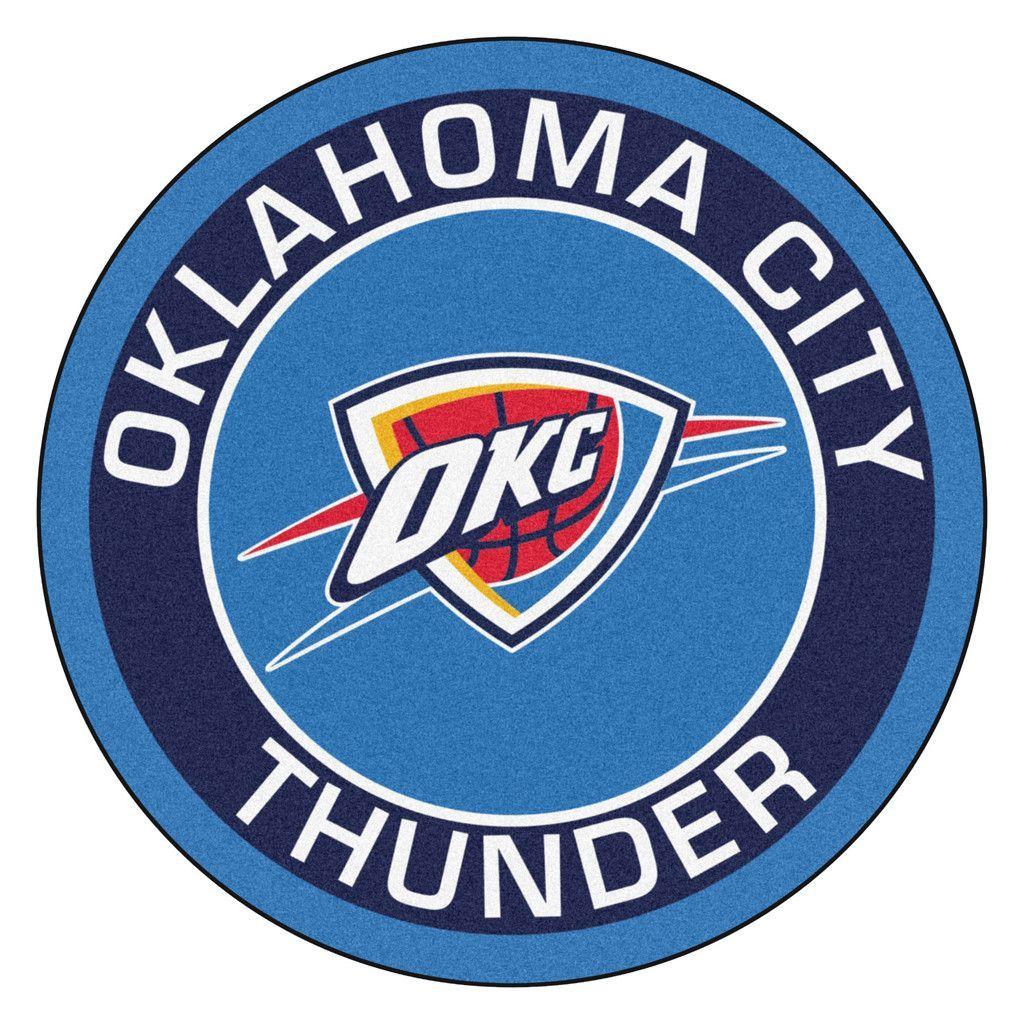 Oklahoma City Thunder Team Emblem Throw Rug Thunder Team