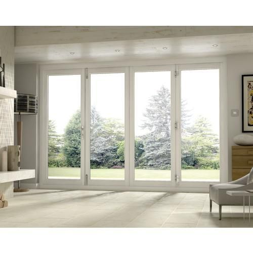 Wickes Burman Slimline Finished Bi Fold Door White 10ft Wide Sliding French Doors Patio Folding Patio Doors Sliding Doors Exterior