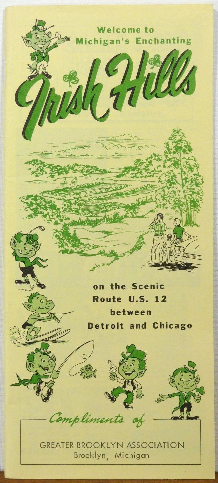 Vintage Michigan Travel Brochure Irish Hills Vintage Michigan