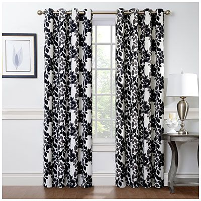 home decor ellery homestyles grommet window panel biglots - Big Lots Home Decor