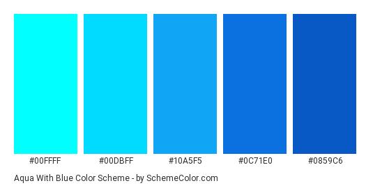 Name Vivid Cerulean Hex 10a5f5 Blue Color Schemes Aqua Color Schemes Color Schemes