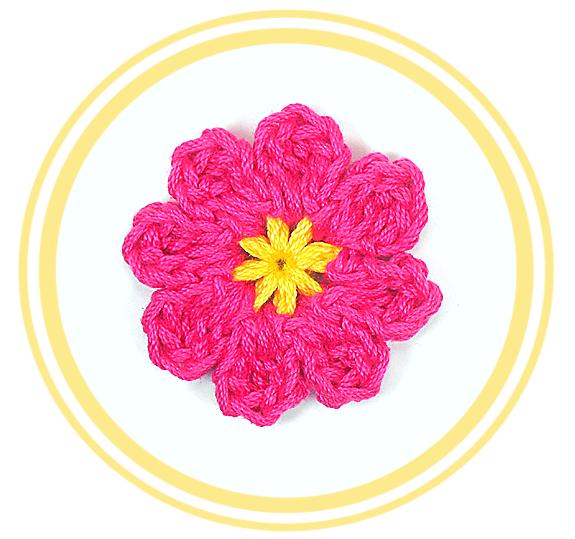 Flor de Ocho Pétalos a #Crochet 2 | #PatronesValhalla | Crochet ...