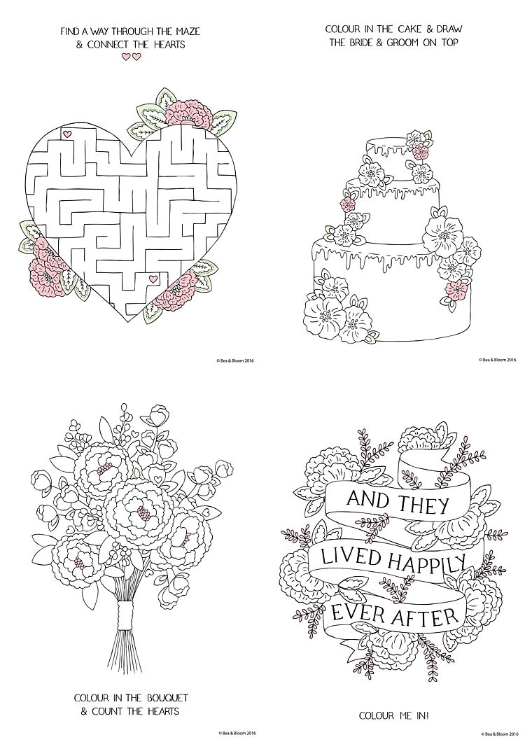 Free Printable Wedding Colouring Sheets For Kids
