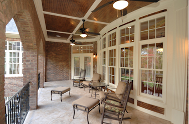 Beige Windows Are One Of The Color Choices Available In Our High Quality Vinyl Windows Other Colors Available To Enhance Your Patio Covered Patio Shade House
