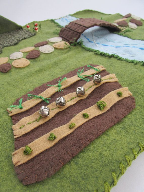 Wool Felt Woodland Playscape Play Mat by MyBigWorld2015 on Etsy