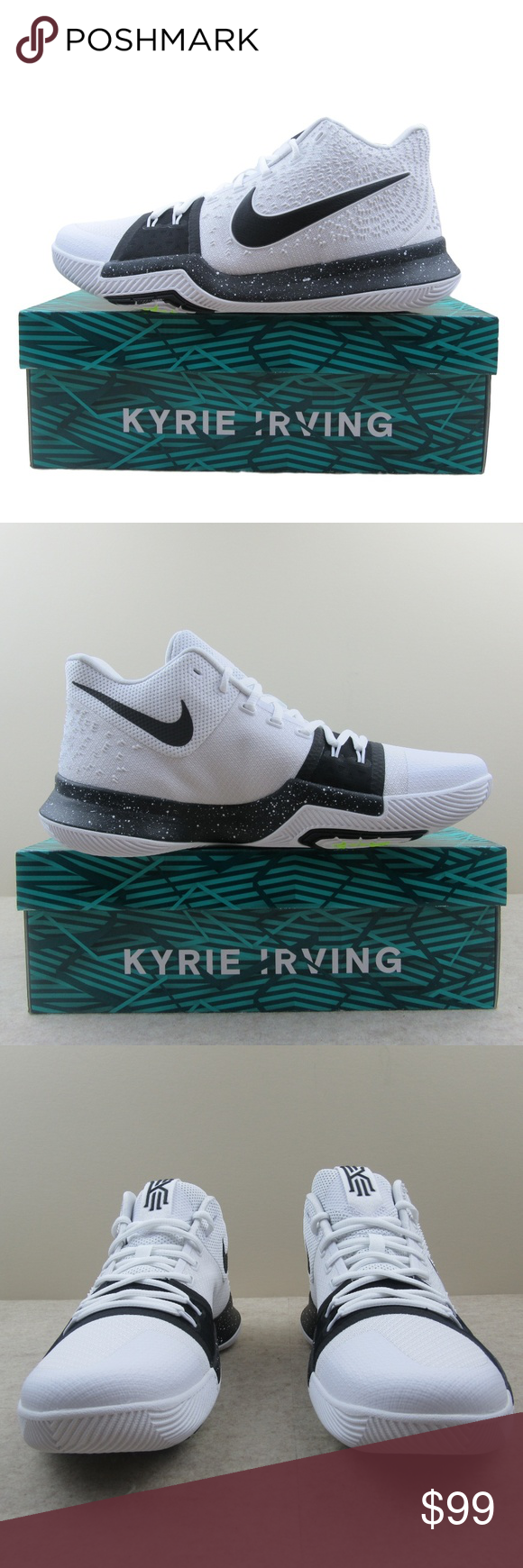 cee4a6ab293 Nike Kyrie 3 TB Basketball Shoes Size 11 Mens Nike Kyrie 3 TB Basketball  Shoes Men s Cookies   Cream White Black Style - 917724 100 Men s Size 11  Brand NEW ...