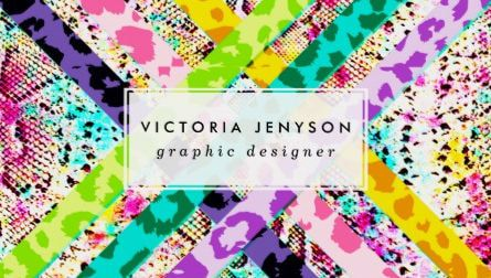 Bright leopard print lattice watercolor snake pattern business cards girly animal print business cards page 2 colourmoves Images