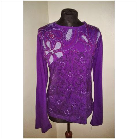 a4eebaa3ac Gringo top size 10 womens ladies purple cut out  hippy hippie  boho   fairtrade Listing in the Long-sleeved