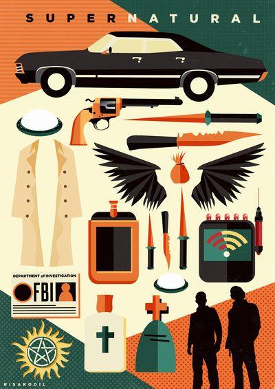 bbcddd10a2 Supernatural Items Art Print by Risa Rodil | Society6 | [FAN] Movie ...