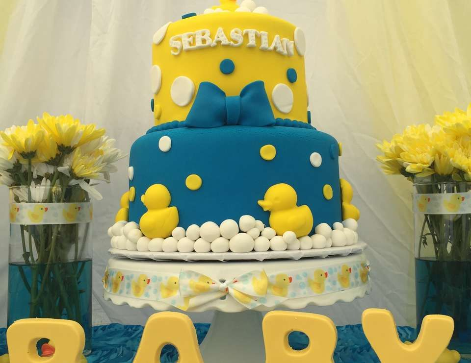 Duck Themed Baby Shower Cakes ~ Ideas baby shower cake with ducks breathtaking rubber yellow stock