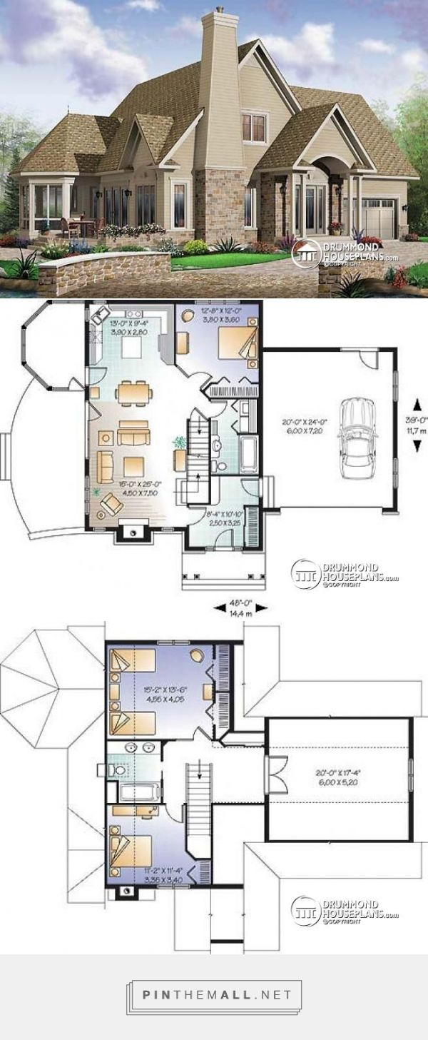 Delightful House Plan W3940 Detail From DrummondHousePlans.com   Created Via  Https://pinthemall.net Amazing Pictures