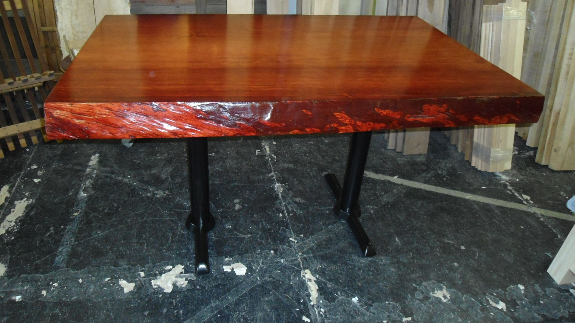Good Old Growth Doug Fir Live Edge Slab Table By Refined Rustic Furniture Ltd,  Calgary,