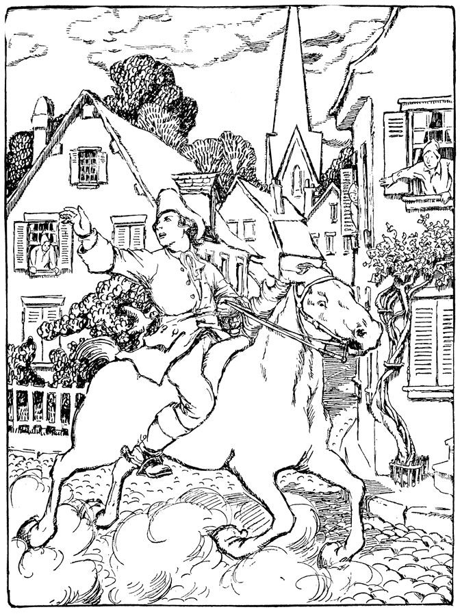 Paul Revere Coloring Book Art Coloring Pages Printable