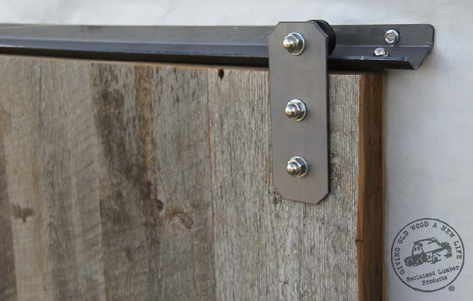Low Clearance Mini Sliding Track Hardware W Weathered Reclaimed