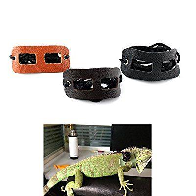 Adjustable Pet Small Animal Reptile Lizard PU Leather Harness Leash