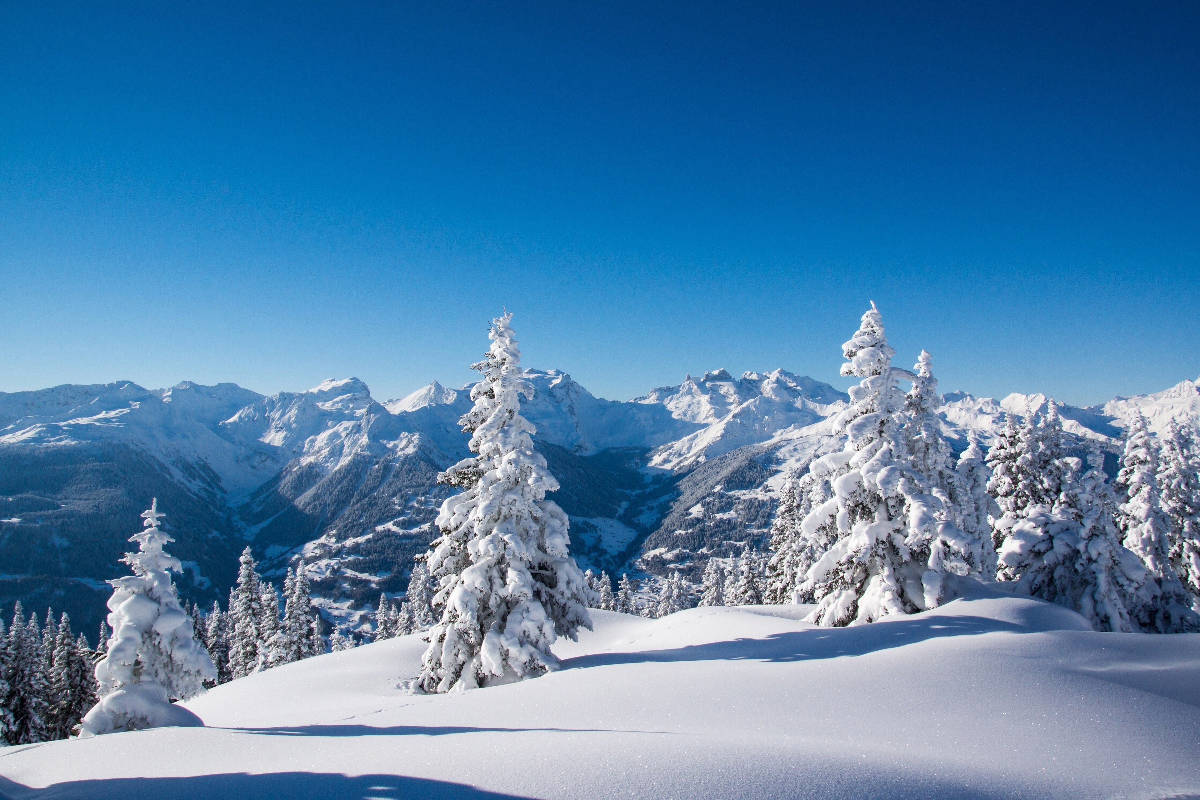 3840x2561 winter mountains 4k hd wallpaper for pc download
