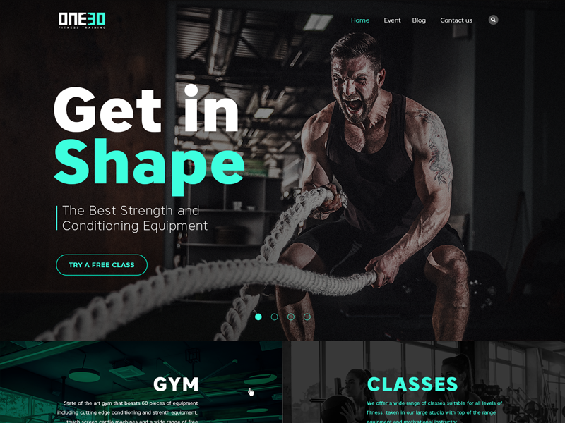 Fitness Landing Page Fitness Flyer Website Design Inspiration Layout Fitness Web