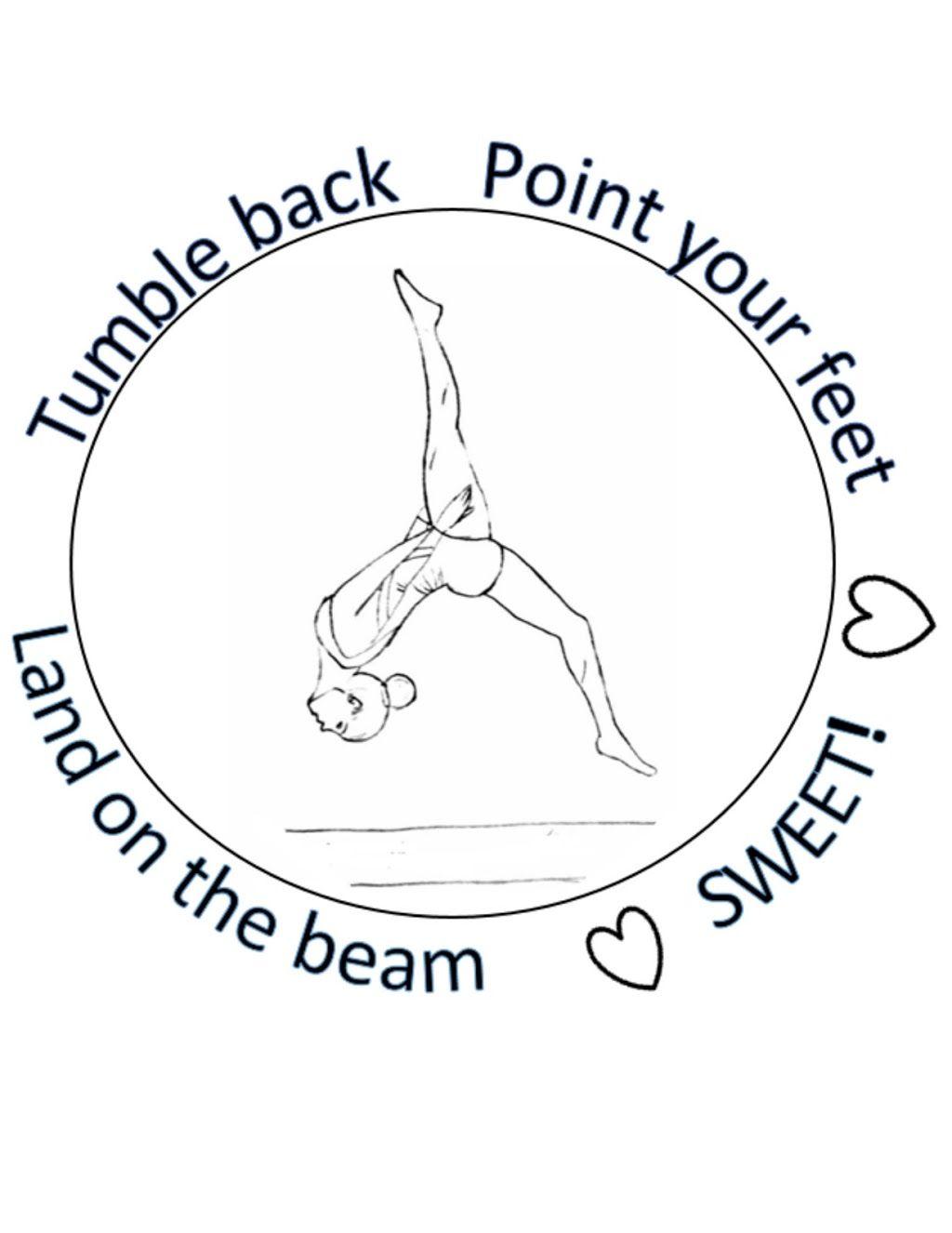 Gymnastics Coloring Page Gym Rat Gym Fun [ 1326 x 1024 Pixel ]