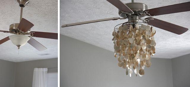 100 Cheap Diy Upgrades For Under 100 Each Diy Chandelier Ceiling Fan Chandelier Ceiling Fan Diy