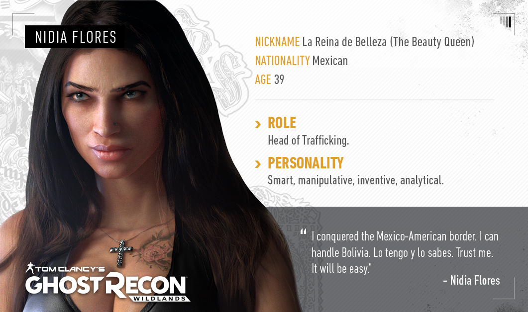 Patrona Reina Flores Ghost Recon Wildlands Ghostreconwildlands Shooter Ghostrecon Ubisoft Games Videogames Tomclancys Wildlands