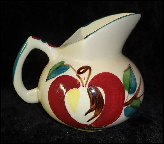 Vintage Purinton Pottery Apple Pitcher by sweetmeadowstwo on Etsy