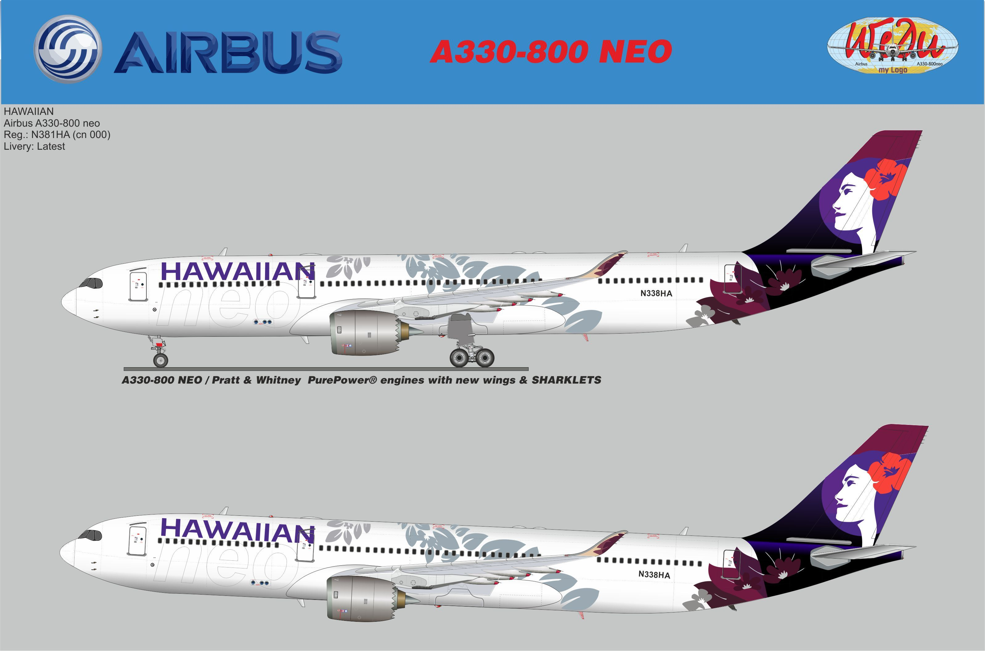 f0a977d0810d NEW Airbus A330-800 NEO in the latets HAWAIIAN livery.
