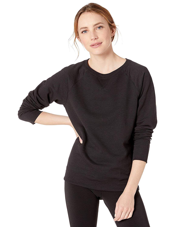 Champion Women S Powerblend Boyfriend Crew Sweatshirt In 2020 Crew Sweatshirts Sweatshirts Sweater Design [ 1500 x 1154 Pixel ]