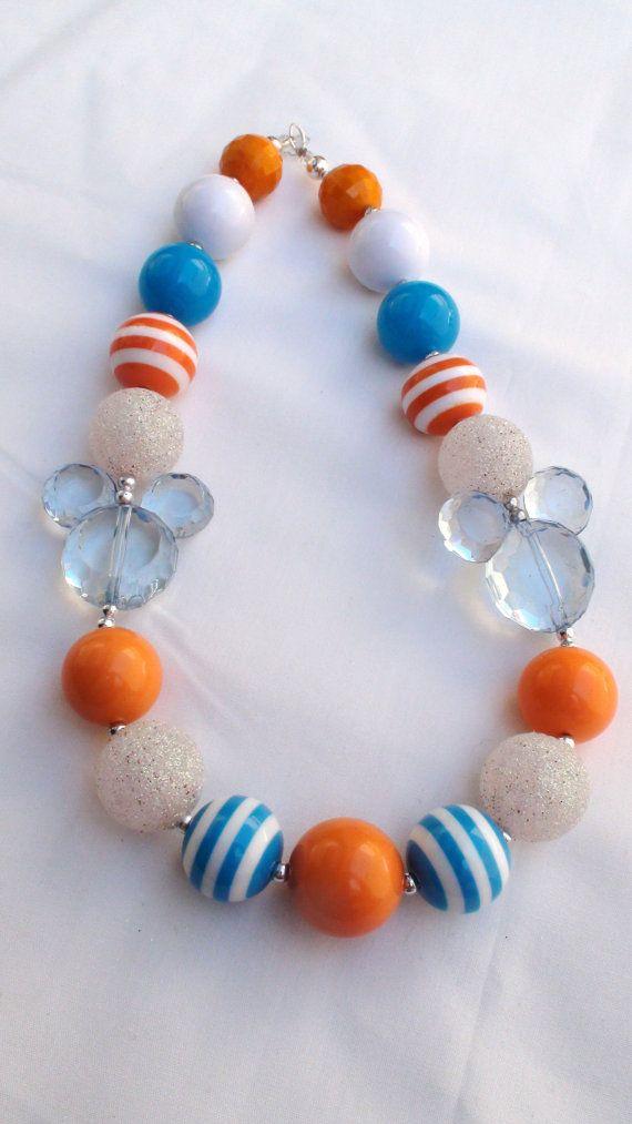 Disney Pixar Finding Nemo Mickey Mouse Girls Chunky Necklace by AlternativeScraps, $15.00