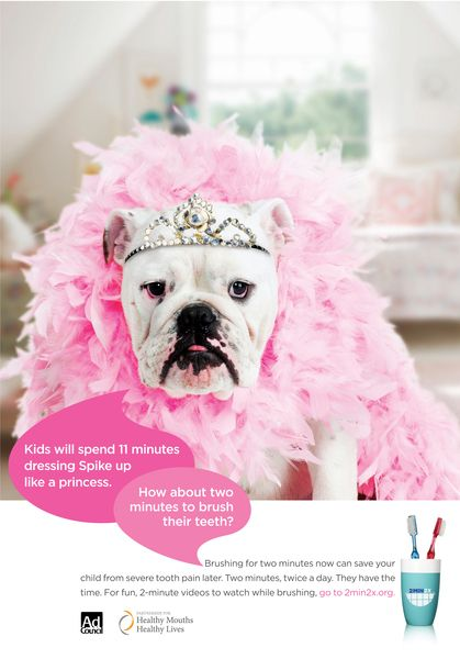 I THINK THE BULLIE IS ADORABLE ♥ ~~~Kids will spend 11 minutes dressing up  Spike... How about 2 minutes brushing their teeth? Great videos for kids