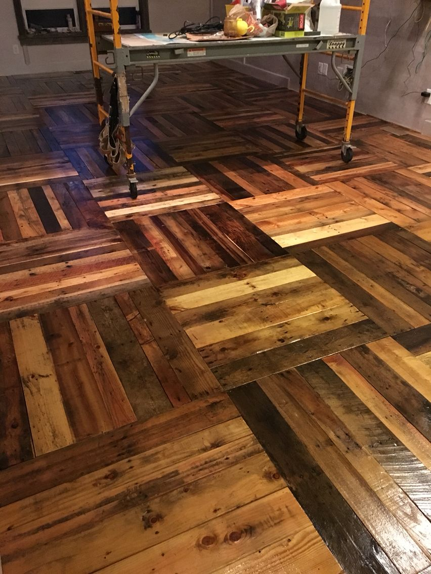 how to make wood flooring from pallets