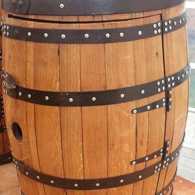 Oak Whisky Barrel Furniture Drinks Cabinet Balmoral For Sale