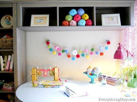 Craft Room - Pom Pom Garland @Everything Etsy