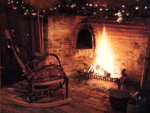 Fireplace Rocking Chair Enlarged Fireplace Cozy Fireplace Fireside Chairs