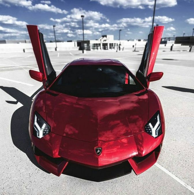 Lb Red Chrome Lamborghini Cars Sports Cars Luxury Cars