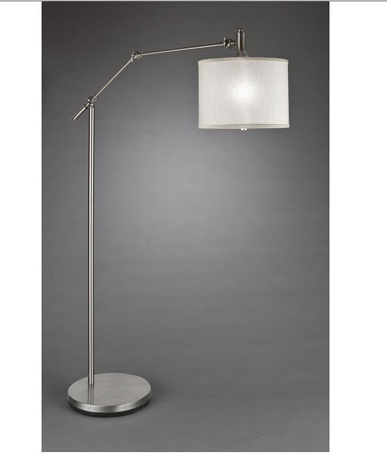 Contemporary Floor Lamp Brushed Nickel Finish Reading Lamps Arc Metal Arch Decor #Contemporary